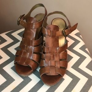 Guess Brown Heels (Size 7.5)